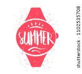 summer card with wrist watch... | Shutterstock .eps vector #1102535708