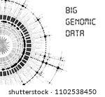 big genomic data visualization  ... | Shutterstock .eps vector #1102538450