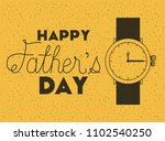 happy fathers day card with... | Shutterstock .eps vector #1102540250