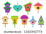 Set Of Colorful Birdhouses....