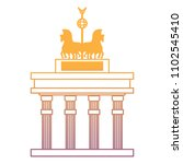 brandenburg gate design | Shutterstock .eps vector #1102545410
