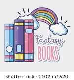 fantasy and magic books | Shutterstock .eps vector #1102551620