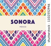sonora  mexican state  colorful ... | Shutterstock .eps vector #1102552946