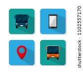 set of urban transport icons | Shutterstock .eps vector #1102557170
