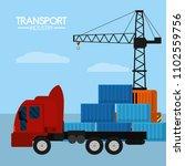 maritime transport industry | Shutterstock .eps vector #1102559756