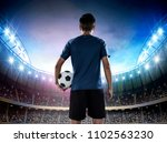 young soccer player entering... | Shutterstock . vector #1102563230