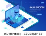 isometric science teacher bot... | Shutterstock .eps vector #1102568483