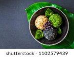 japanese onigiri sushi rice... | Shutterstock . vector #1102579439