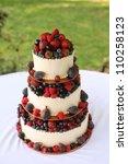 wedding cake with berries | Shutterstock . vector #110258123
