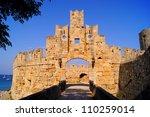 Rhodes  Greece   Ancient Gate...