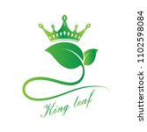 nature leaf logo for premium... | Shutterstock .eps vector #1102598084