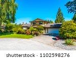 big custom made luxury house... | Shutterstock . vector #1102598276