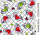 beautiful hearts pattern on... | Shutterstock .eps vector #1102614950