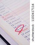 schedule table notebook        ... | Shutterstock . vector #1102617116