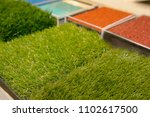 samples of an artificial lawn... | Shutterstock . vector #1102617500