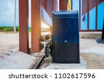 automatic gate motor installed... | Shutterstock . vector #1102617596