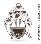 american football player action ...   Shutterstock .eps vector #1102624466