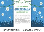 guatemala independence day... | Shutterstock .eps vector #1102634990