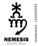 astrology alphabet  nemesis ... | Shutterstock .eps vector #1102635353