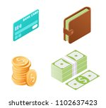 flat illustration of money... | Shutterstock .eps vector #1102637423