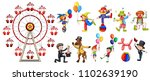 a set of circus character... | Shutterstock .eps vector #1102639190