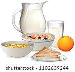 a healthy breakfast on white...   Shutterstock .eps vector #1102639244