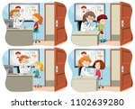 a set of children and medical...   Shutterstock .eps vector #1102639280