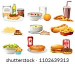 a set of american food... | Shutterstock .eps vector #1102639313