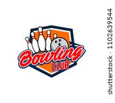professional bowling club badge ... | Shutterstock .eps vector #1102639544