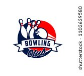 professional bowling club badge ... | Shutterstock .eps vector #1102639580