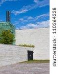 Tallinn KUMU museum with modern architecture - stock photo