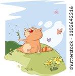 vector illustration of a cute... | Shutterstock .eps vector #1102642316