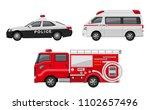 police car  ambulance  fire... | Shutterstock .eps vector #1102657496