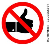 no like icon sign on white... | Shutterstock .eps vector #1102666994