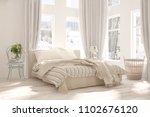 white bedroom with winter... | Shutterstock . vector #1102676120