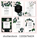 wedding invitation card with... | Shutterstock .eps vector #1102676624