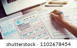 website designer creative... | Shutterstock . vector #1102678454
