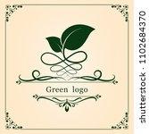 nature leaf logo for premium... | Shutterstock .eps vector #1102684370