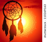 Dream Catcher  Silhouette Of A...