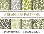 hand drawn seamless triangle... | Shutterstock .eps vector #1102693373