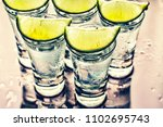 alcohol. caipirinha  glasses of ... | Shutterstock . vector #1102695743