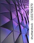 dark blue black abstract 3d...   Shutterstock . vector #1102708370