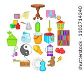 domestic science icons set.... | Shutterstock .eps vector #1102714340