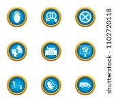 adopt icons set. flat set of 9... | Shutterstock .eps vector #1102720118