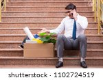 young businessman on the street ... | Shutterstock . vector #1102724519