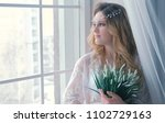 young slim sexy blond girl in... | Shutterstock . vector #1102729163