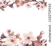 floral frame with illustration...   Shutterstock . vector #1102729310