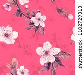 romantic seamless pattern with...   Shutterstock . vector #1102729313