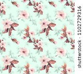 romantic seamless pattern with...   Shutterstock . vector #1102729316