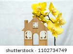 the symbol of the house and... | Shutterstock . vector #1102734749
